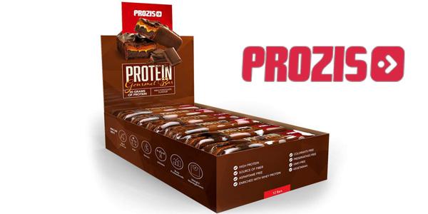 Pack x12 Barritas de proteínas Prozis Protein Gourmet Bar x80 gr/ud sabor chocolate con leche barato en Amazon