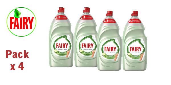Pack x4 Botellas Lavavajillas a mano Fairy aloe vera y pepino de 1015 ml/ud barato en Amazon