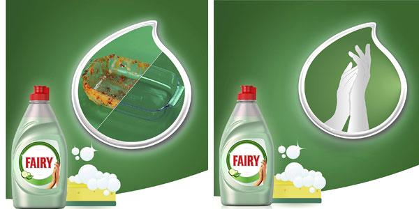 Pack x4 Botellas Lavavajillas a mano Fairy aloe vera y pepino de 1015 ml/ud chollo en Amazon