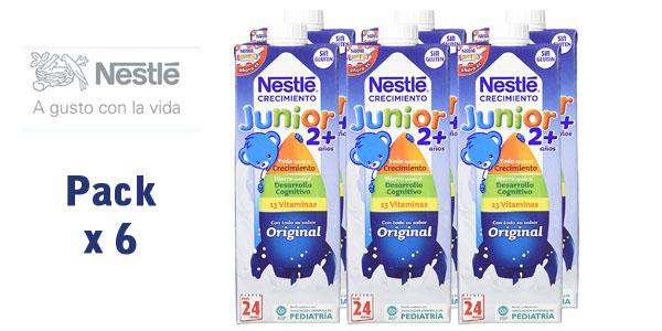 Pack x6 Envases Leche crecimiento Nestlé Junior 2+ Original barata en Amazon