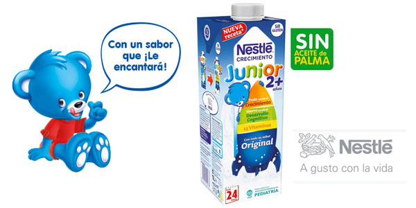 Pack x6 Envases Leche crecimiento Nestlé Junior 2+ Original chollo en Amazon
