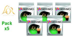 Pack x5 Paquetes de 16 cápsulas de Café Tassimo L'OR Espresso Long Délicat barato en Amazon