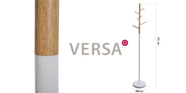 Perchero de pie Versa 18790697 de 6 colgadores en metal y madera chollazo en Amazon