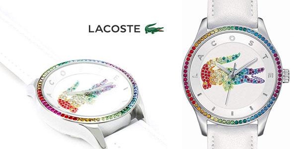 Reloj analógico Lacoste Victoria Rainbow con correa de cuero para mujer barato en Amazon