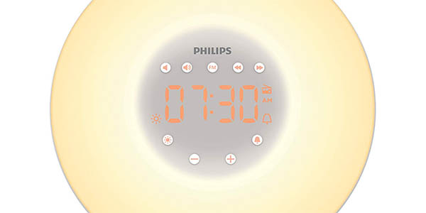 reloj despertador lámpara Philips Wake-up HF3506/05 oferta