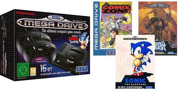 Sega Megadrive Mini con 40 juegos pre-instalados