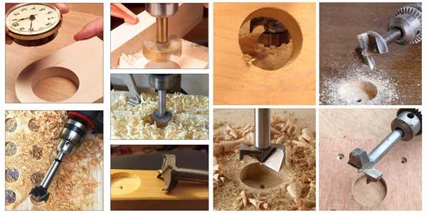 Set de 10 brocas Camtek Forstner en aleación de calidad para hacer agujeros en madera chollo en Amazon