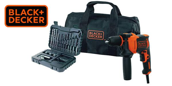 Pack BLACK+DECKER BEH710SA32-QS con Taladro percutor de 710 W + Set 32 accesorios para atornillar + Bolsa de transporte barato en Amazon