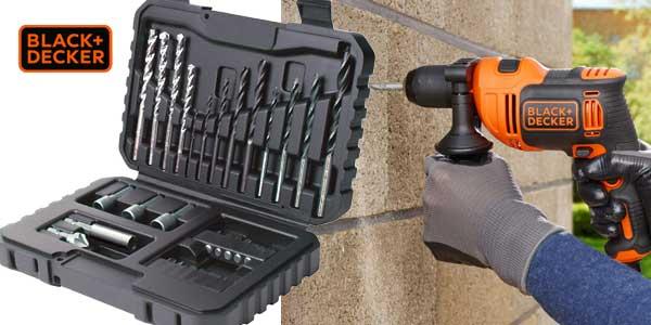 Pack BLACK+DECKER BEH710SA32-QS con Taladro percutor de 710 W + Set 32 accesorios para atornillar + Bolsa de transporte chollo en Amazon