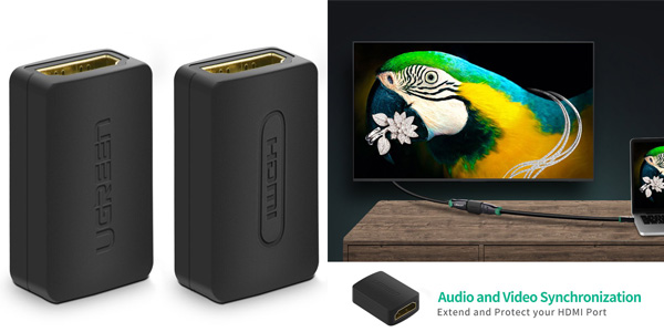 Set 2x Conectrores HDMI 4K Ugreen baratos en Amazon