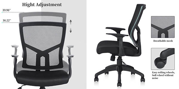 silla oficina de malla Aingoo cupón descuento Amazon