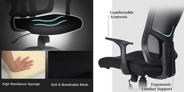 sillón de oficina confortable Aingoo chollo