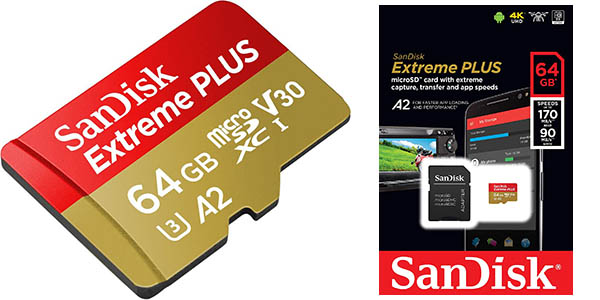 Tarjeta microSDXC SanDisk Extreme PLUS de 64 GB