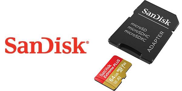 Tarjeta microSDXC SanDisk Extreme PLUS de 64 GB baarata
