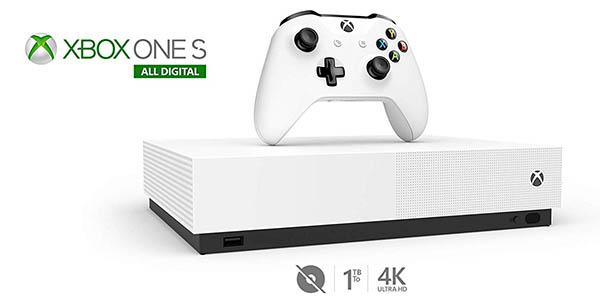 Xbox One S All Digital 1 TB + Forza Horizon 3 + Minecraft + Sea of Thieves