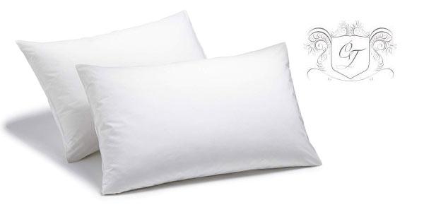 Comprar Set x2 Fundas de almohada Charlotte Thomas Sestina de percal de algodón baratas en Amazon