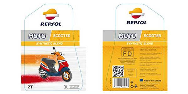 aceite Repsol para moto Scooter 2 tiempos oferta