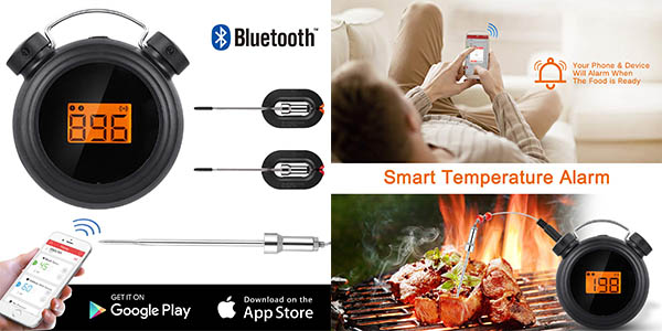 AGm termómetro digital para barbacoa y horno barato