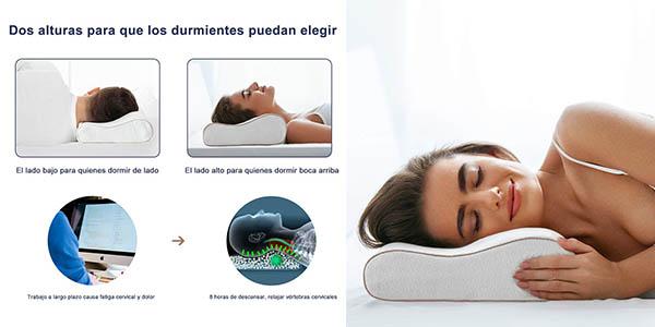almohada BedStory viscoelástica relación calidad-precio estupenda