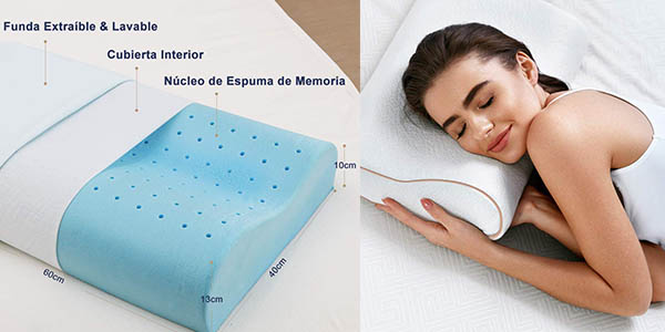 almohada viscoelástica BedStory con cupón descuento en Amazon