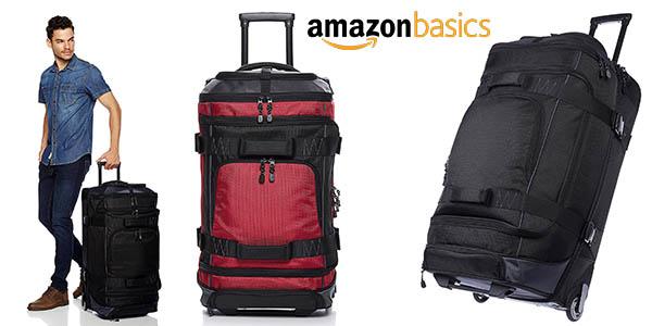 AmazonBasics maleta grande con ruedas oferta