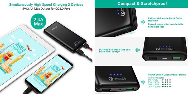 Batería externa BlitzWolf de 10.000 mAh Quick Charge 3.0 chollazo en Amazon
