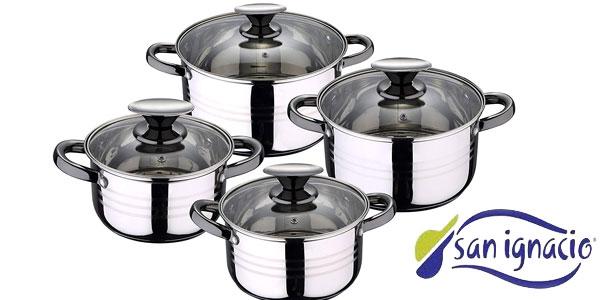 Batería de cocina de 8 piezas San Ignacio Pk1175 + set 6 mugs multicolor chollo en Amazon