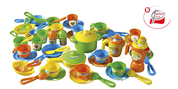 Bolsa mochila Palau con 40 piezas de menaje de juguete chollo en Amazon