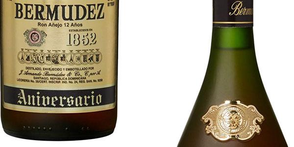 Botella Ron añejo Bermúdez 12 aniversario de 70 ml chollazo en Amazon
