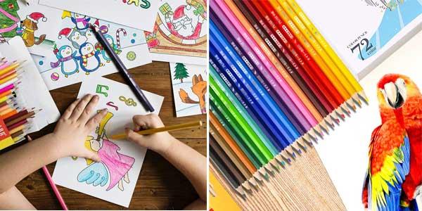 Caja de 72 lápices de colores Topersun barata en Amazon