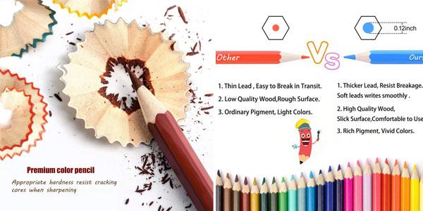 Caja de 72 lápices de colores Topersun chollo en Amazon