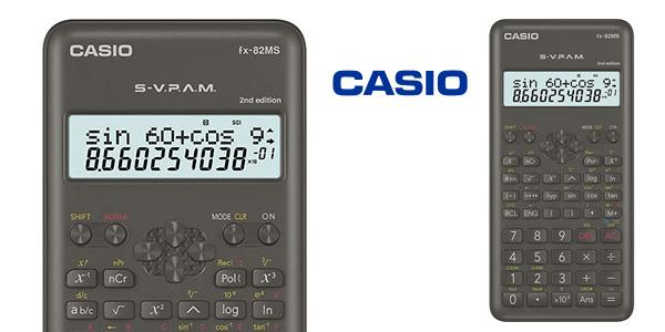Calculadora científica Casio FX-82MS-2-S-ET-B gris barata en Amazon