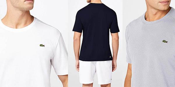 camiseta Lacoste de deporte manga corta oferta