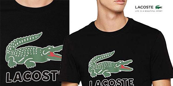 Camiseta de manga corta Lacoste Th6386 para hombre chollazo en Amazon