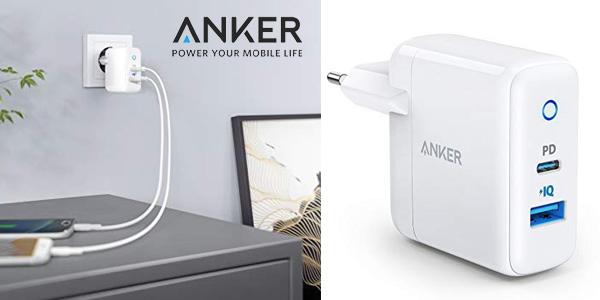 Cargador de pared Anker USB C con Power Port PD de 30 W y carga ultra rápida barato en Amazon