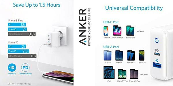 Cargador de pared Anker USB C con Power Port PD de 30 W y carga ultra rápida chollazo en Amazon