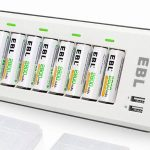Cargador de pilas recargables EBL 808U de 2800 mAh con 8 pilas AA barato en Amazon