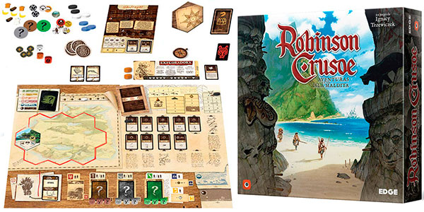 Chollo Juego de mesa Robinson Crusoe: Aventuras en la isla maldita