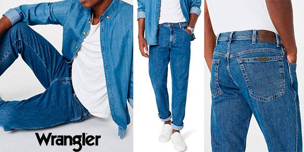 Chollo Pantalones vaqueros Wrangler Regular Fit para hombre