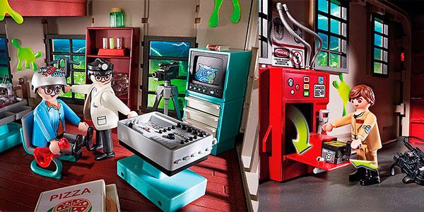 Cuartel Parque de Bomberos Ghostbusters de Playmobil con 5 figuras en oferta