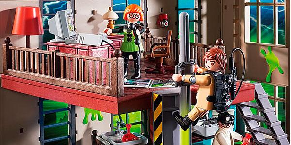 Cuartel Parque de Bomberos Ghostbusters de Playmobil