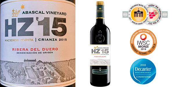 Chollo Vino tinto Hacienda Abascal Crianza (D.O Ribera del Duero) de 750 ml
