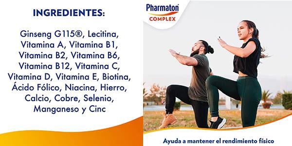 complejo multivínico Pharmaton Complex con ginseng G115 oferta