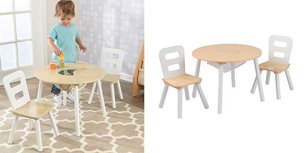 conjunto infantil KidKraft con mesa y sillas barato