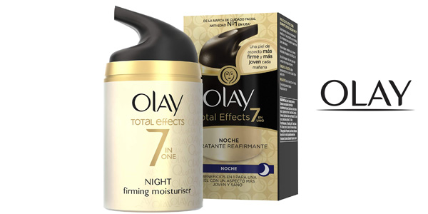Crema Hidratante Reafirmante Facial Noche Olay Total Effects 7 en 1 barata en Amazon