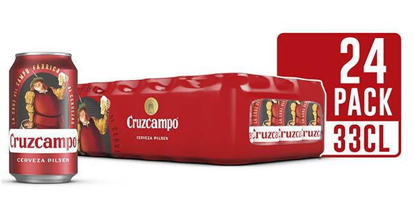 Cruzcampo latas pack de 24 oferta