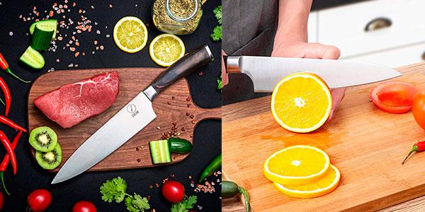 Cuchillo de cocina Deik Chef de 20 cm de acero inoxidable barato