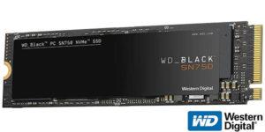 Disco SSD WD Black SN750 NVMe 1 TB M.2