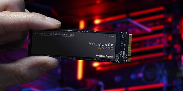 Disco SSD WD Black SN750 NVMe 1 TB M.2 en Amazon