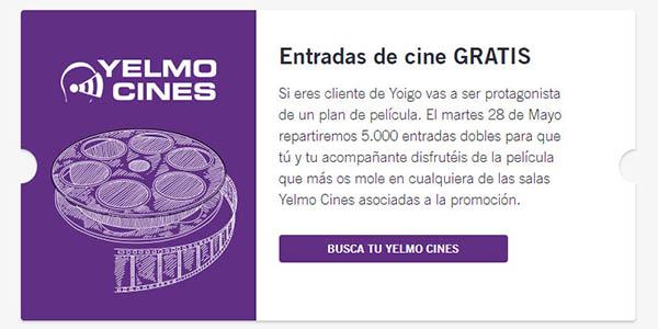 entradas de cine gratis para client@s de Yoigo
